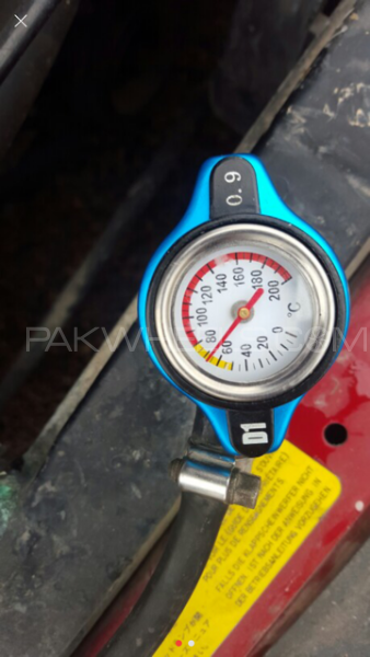 Thermost Radiator Cap COVER + Water Temp gauge Image-1