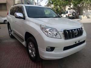 .TOYOTA PRADO 2011 TXL PEARL WHITE BEIGE ROOM SUNROOF TV MULTI LEATHER BODY KIT FRESH CLEARED , 4.5 GRADE