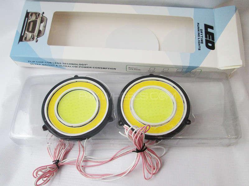 LED DRL With Indicators - Round Shape Image-1