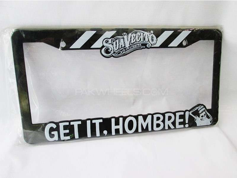 SUAVECITO  Number Plate Frame Image-1