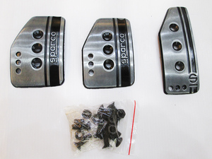 Brake Pedal Covers Sparco Grey and Black in Lahore