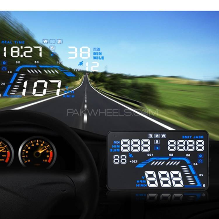 """HUD 5.5 Inch Car """"Q7 GPS"""" LCD Head-Up Display Delivery Pak Image-1"""