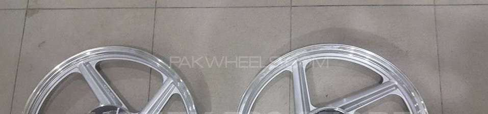 Suzuki Gs 150 alloy rims with disk break complete setup Image-1