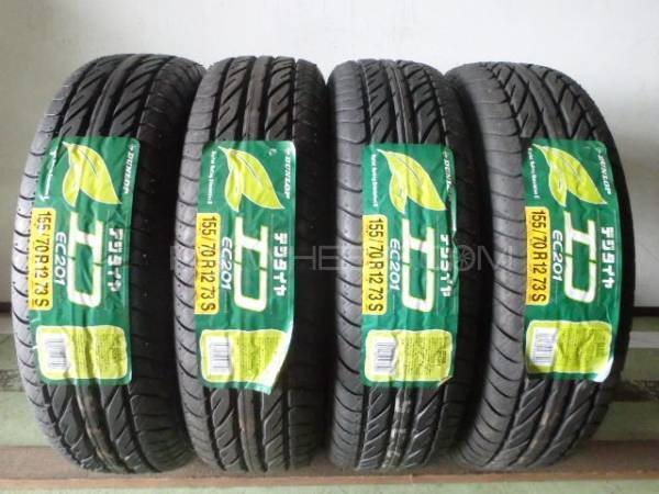 4tyres 155/70/R/12 Dunlop Japani Manufacture2016 Brand New Image-1