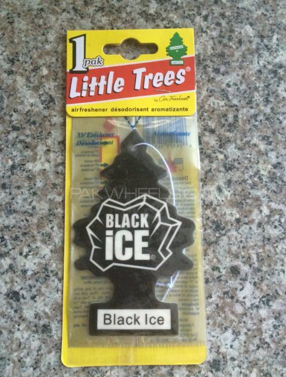 Black ice hanging card air freshener for car Image-1
