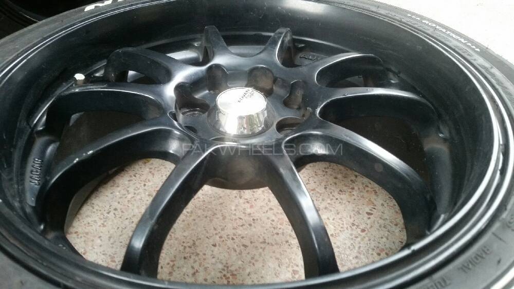 Advan racing RZ DF forged alloy rims and tyres Image-1