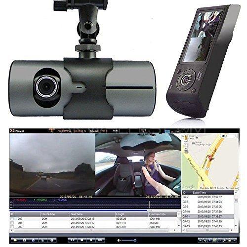 """Car DVR DashCam R300 Dual Camera 1080p GPS G-Sensor Night Vision 2.7"""" Image-1"""