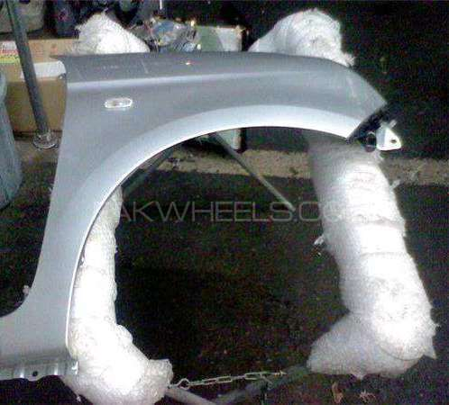 Honda N One 2013 model left fender with indicator and spacer silver Image-1
