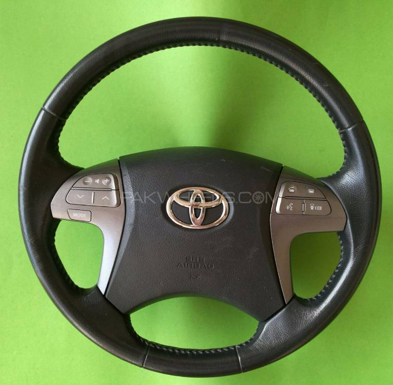 Toyota Altis,Xli,Gli,Axio,Multimedia Leather Stitch Steering Wheel  Image-1