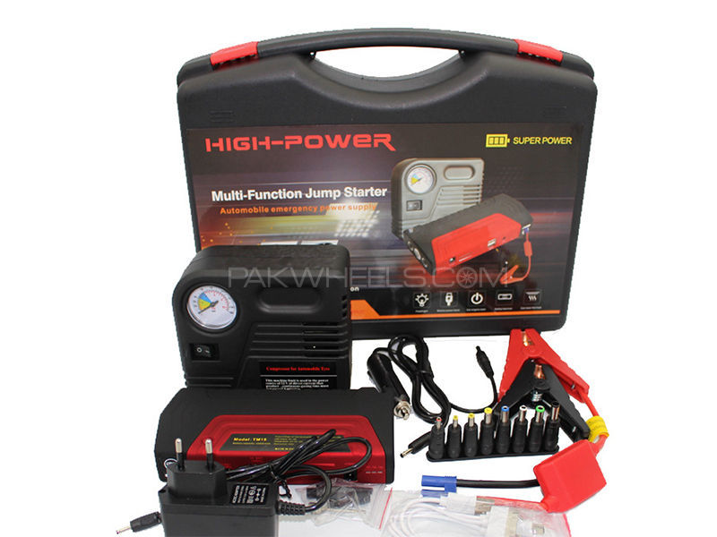 Multi-Function Car Jump Starter 50800mAh PowerBank with Air Compressor in Lahore