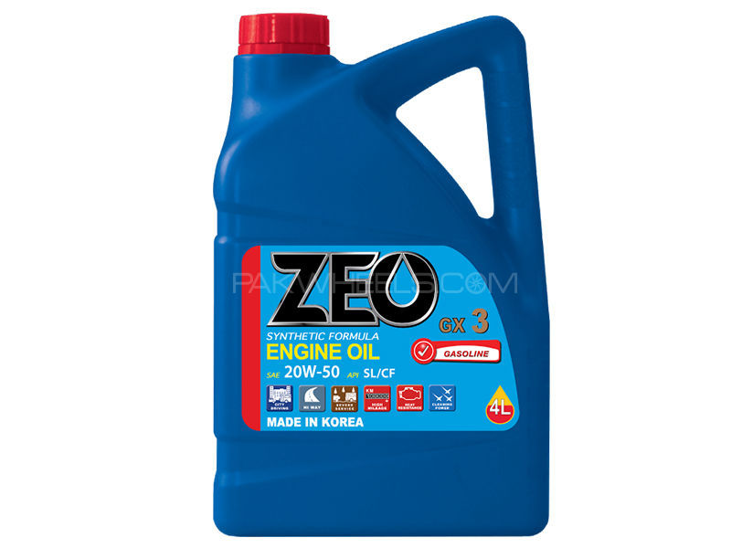 ZEO 1Ltr Synthetic Formula Engine Oil - GX3 20W50 SL/CF in Lahore