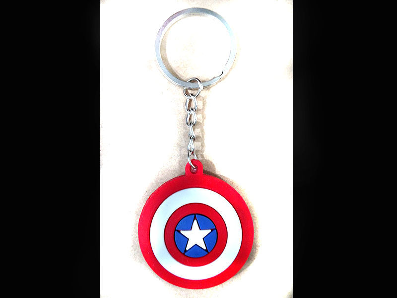Captain America Rubber KeyChain in Lahore