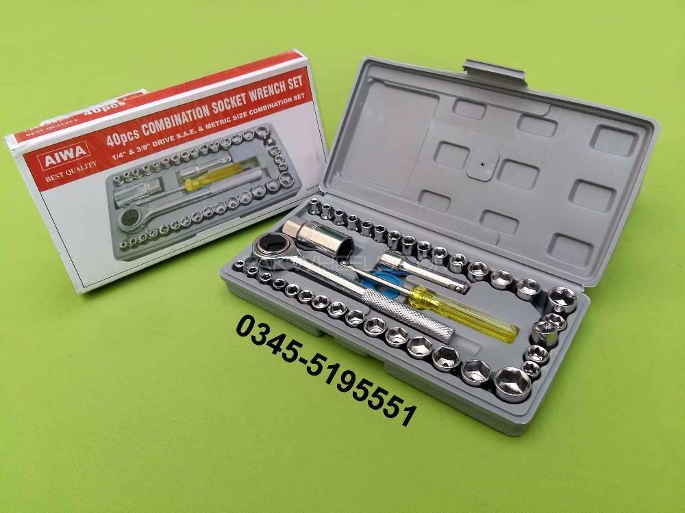 Brand New 40 Piece Toolkit Socket Wrench 4 Bike Image-1