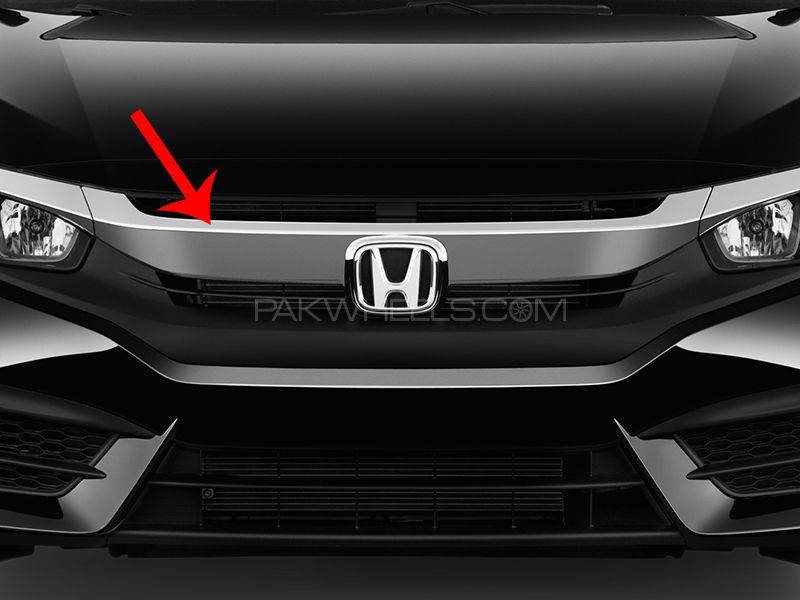 Buy Front Replacement Chrome Grill For Honda Civic 2016-2017 in Pakistan | PakWheels