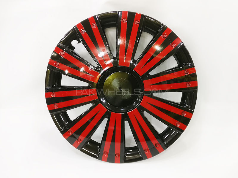 "X8 Wheels Cover Two Tone 12"" Red Black - 1292 in Lahore"