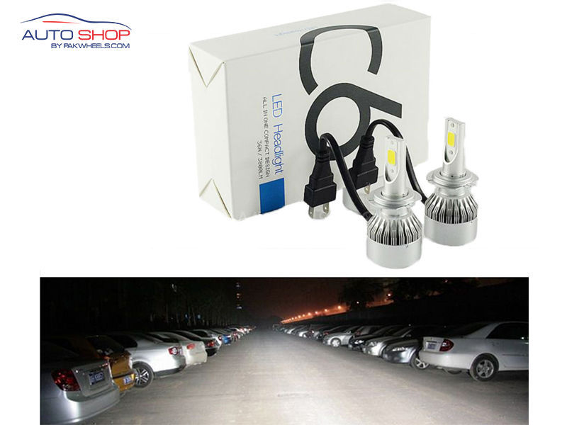 Brightest C6 SMD Headlights Bulb in Lahore
