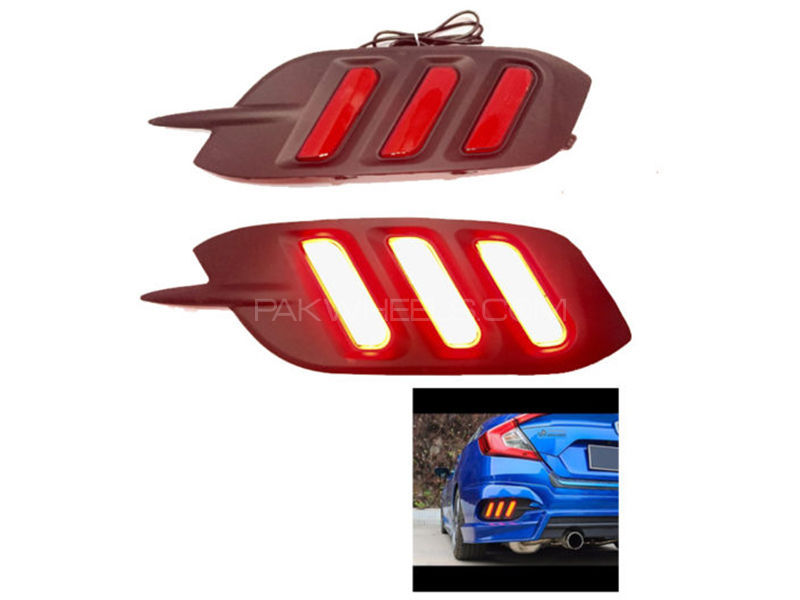 Civic 2017 Rear Mustang Style Bumper Light  in Karachi