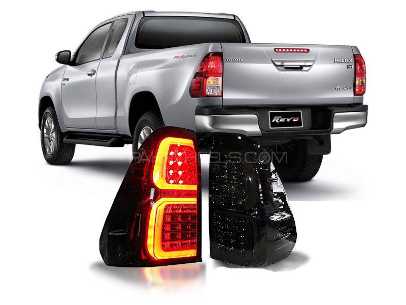 Toyota Hilux Revo LED Smoke Lava Tail Light Set For 2016-2020 in Lahore