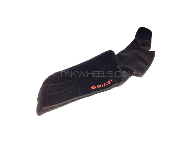 Suzuki Mehran Black Red Dashboard Mat Image-1