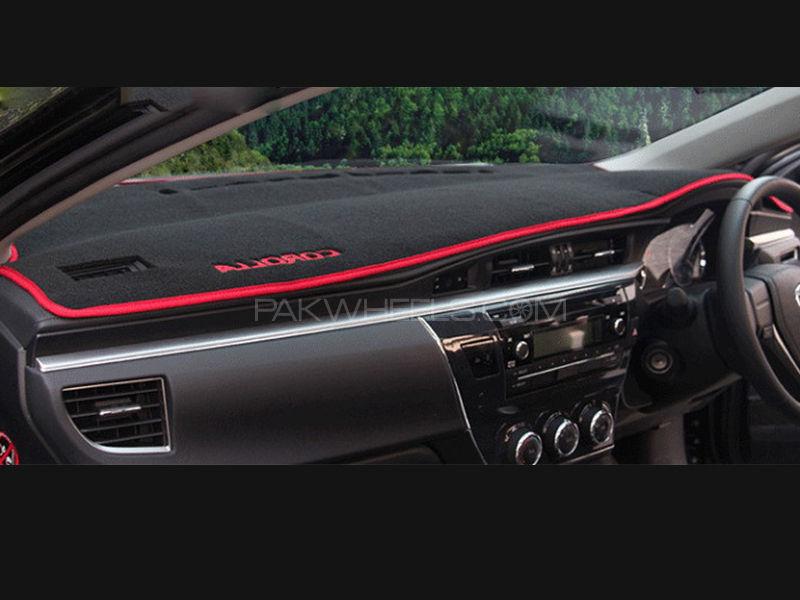 Toyota Corolla 2014-2016 Black Red Dashboard Mat  Image-1