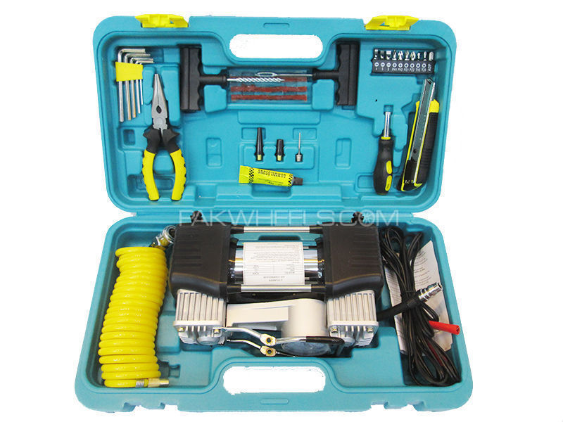 ATR Emergency Car Tools Kit With Air Compressor  Image-1