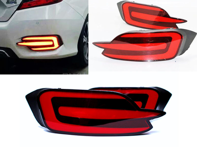 Honda Civic 2016-2018 Rear Bumper Lava LED Reflector Light in Lahore