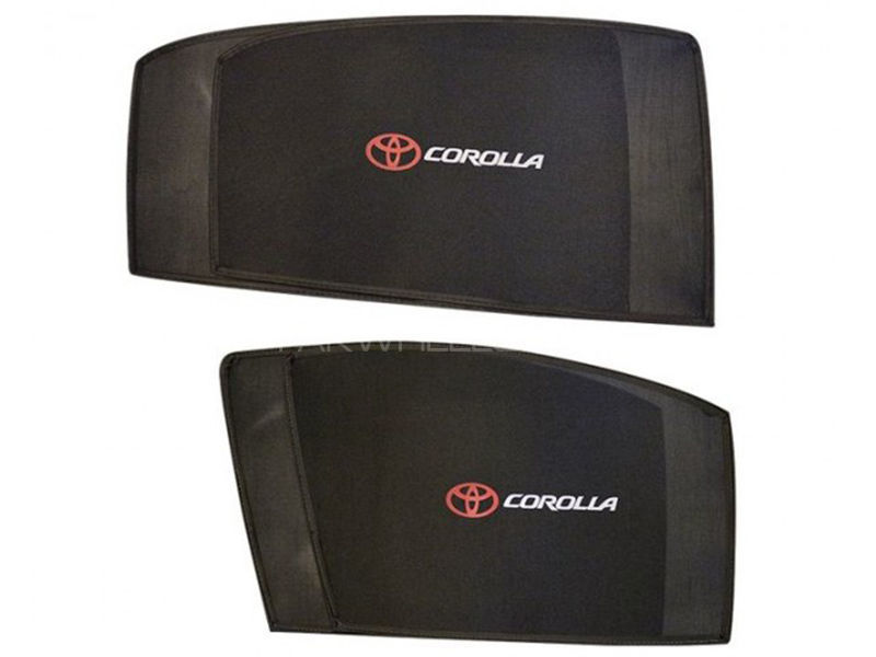 Toyota Corolla Side Shades With Logo - 2002-2008 in Karachi