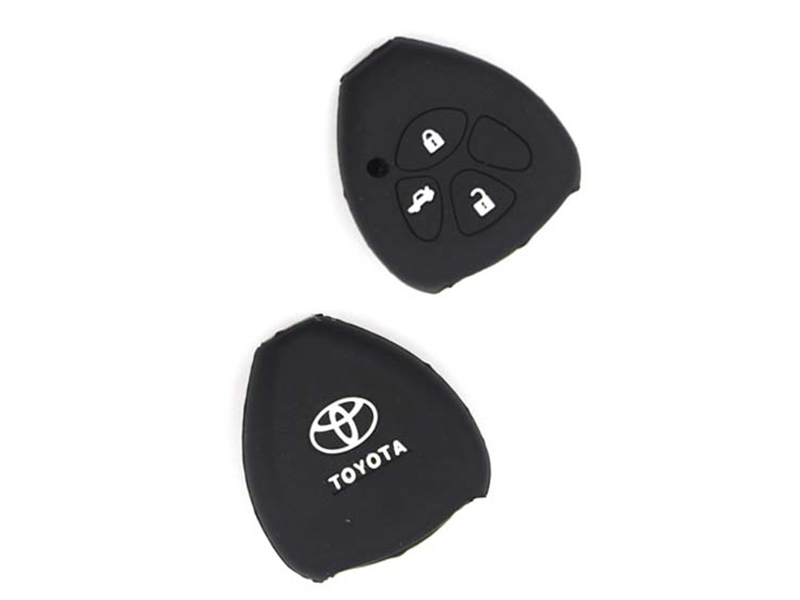 Silicon Key Cover For Toyota Camry 2013-2014 - Black in Karachi