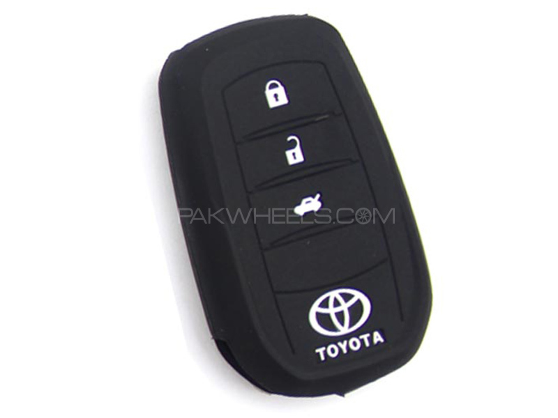 Silicon Key Cover For Toyota Camry 2018 - Black Image-1