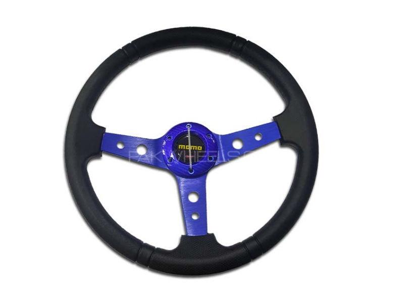 Universal MOMO Steering Blue Image-1