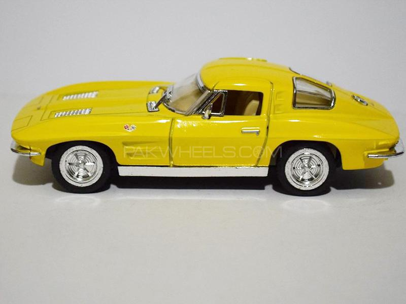 KinSmart Metal Body Die Cast Corvette Stingray 1963 - Yellow in Lahore