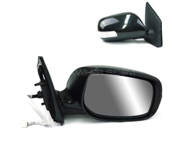 TO-Landcruiser  1997 to 2008 Silver Wing//Door Mirror Glass LH Passenger Side