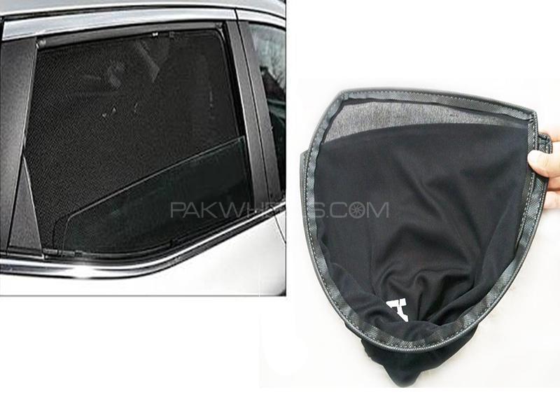 Foldable & Flexible Sun Shades For Toyota Vitz 2007 Image-1