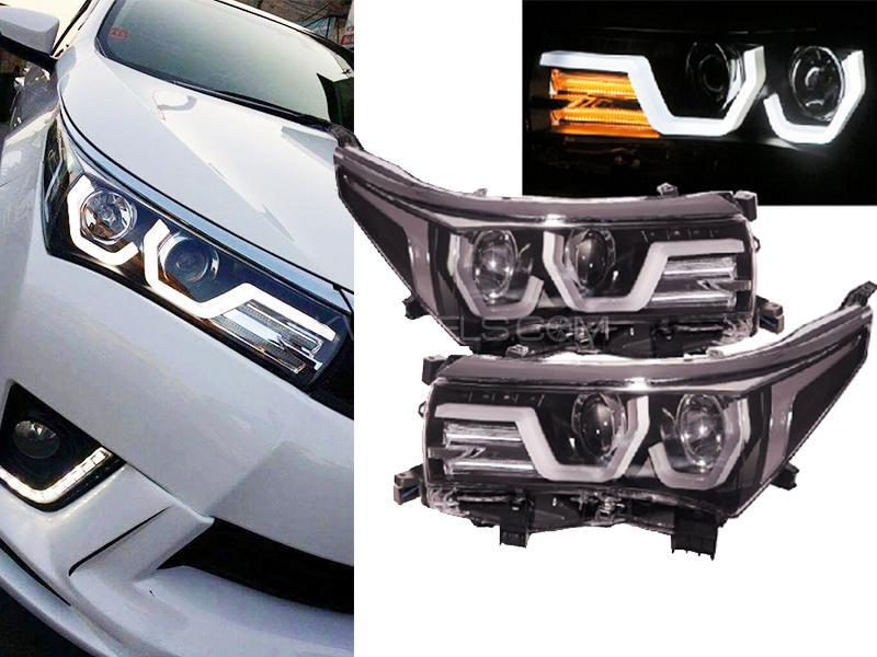 U Shape LED Headlight For Toyota Corolla 2014-2018