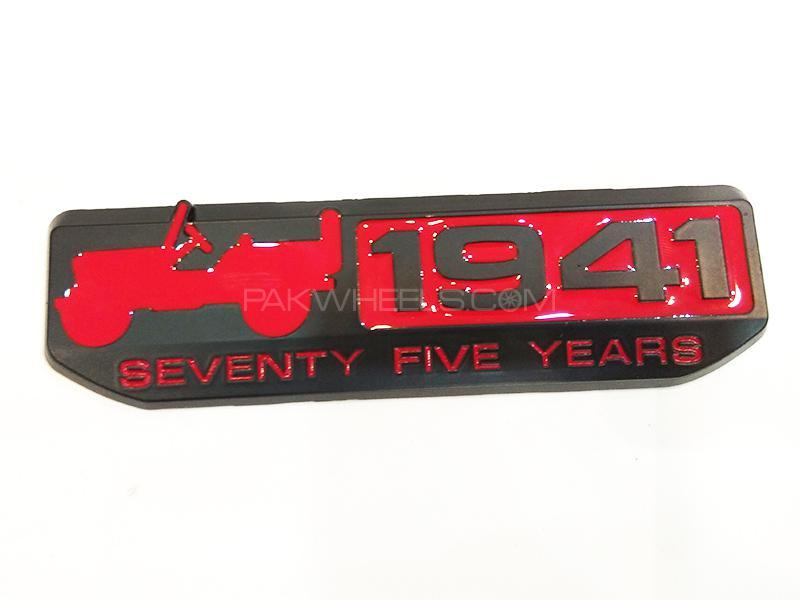 1941 Metal Logo - Red Image-1
