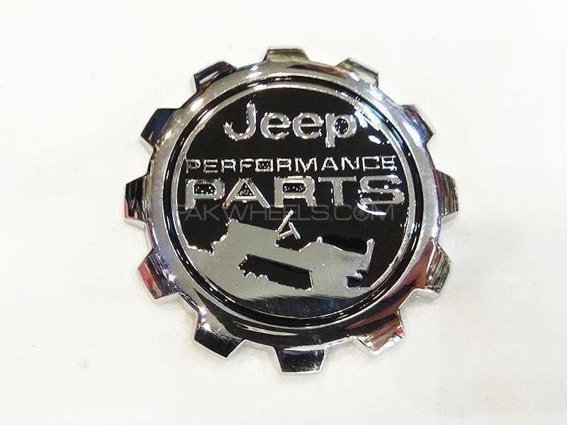 Jeep Performance Metal Logo - Black Image-1