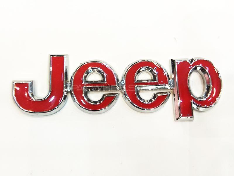 Jeep Metal Logo - Red Image-1