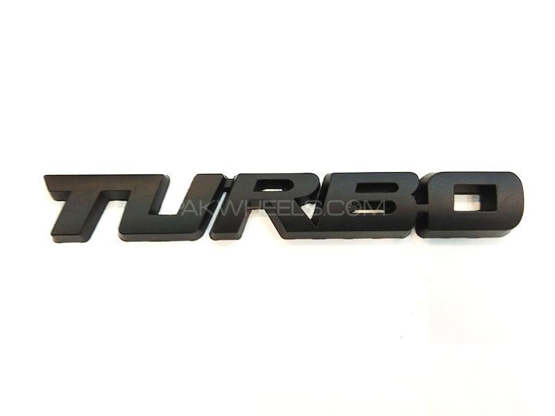 Turbo Metal Logo - Black Image-1