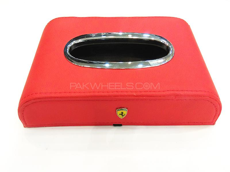Ferrari Logo Tissue Box - Red Image-1