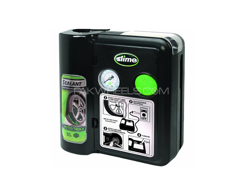 Slime Safety Spair - Air Compressor With Sealent in Lahore
