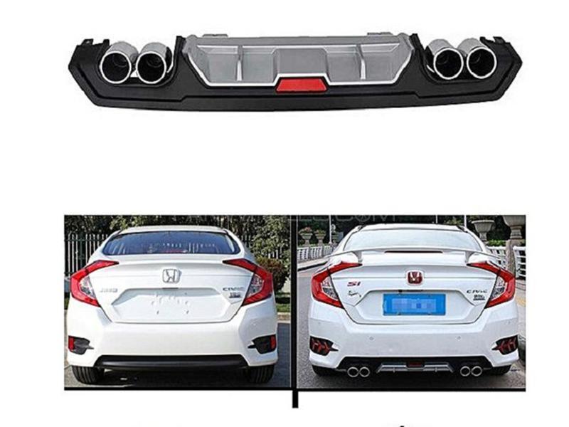 Honda Civic 2016-2018 Kantara Style Dual Exhaust Diffuser With Reflector  in Karachi