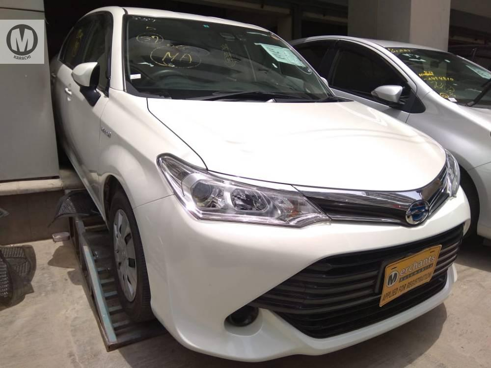 Toyota Corolla Axio G 2016 Model  1500 cc Hybrid  19,000 km  Pearwhite Colour  4 Grade   Complete Auction Sheet Available,  Just Like A Brand New Car.   ===================================   Merchants Automobile Karachi Branch,  We Offer Cars With 100% Original Auction Report Based Cars With Money Back Guarantee.  Recommended Tips To Buy Japanese Vehicle:   1. Always Check Auction Report.  2. Verify Auction Report From Someone Else.  3. Ask For Japan Yard Pics If Possible.   MAY ALLAH CURSE LIARS..