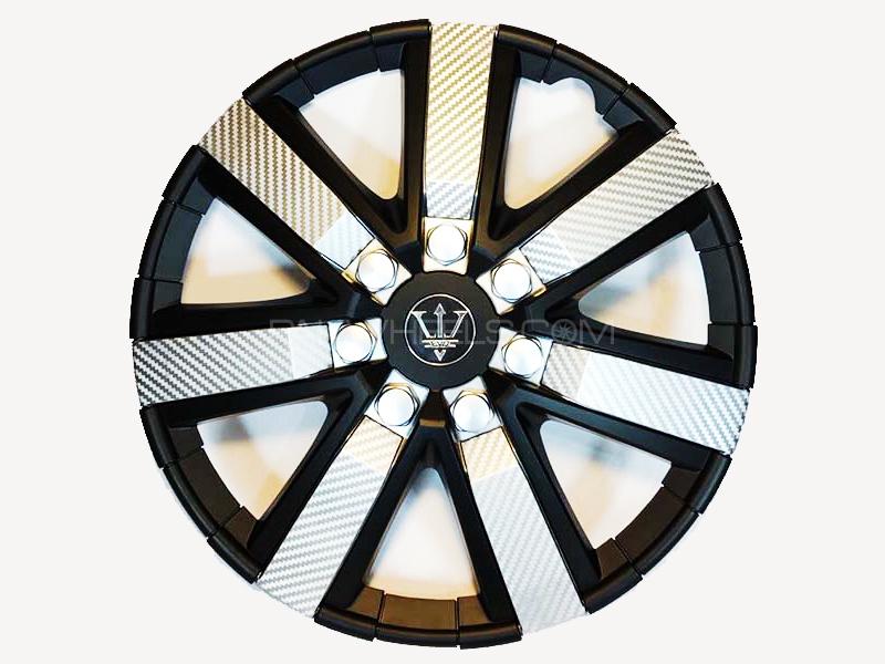 "X8 Wheel Cover Evo Black & Silver Carbon S2 15"" in Lahore"