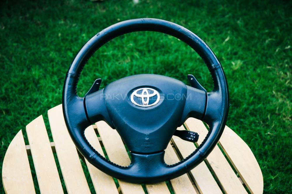 Toyota Ractis Leather Steering Wheel Image-1