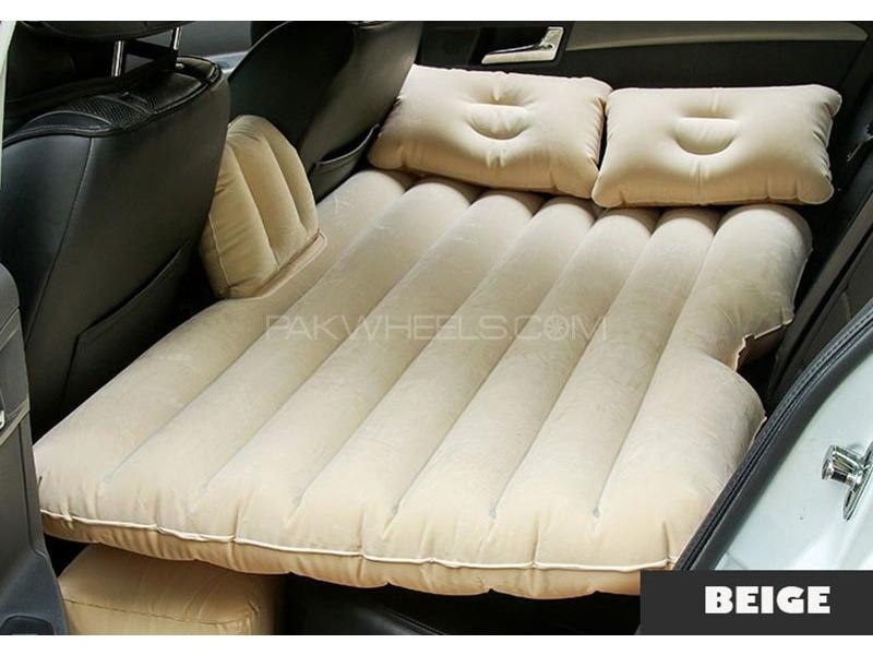 Universal Car Inflatable Mattress Bed - Beige Image-1