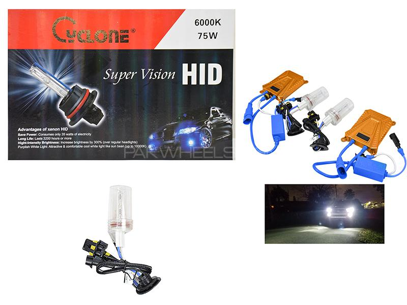 Cyclone Supervision HID 75w 6000k - H7 Image-1