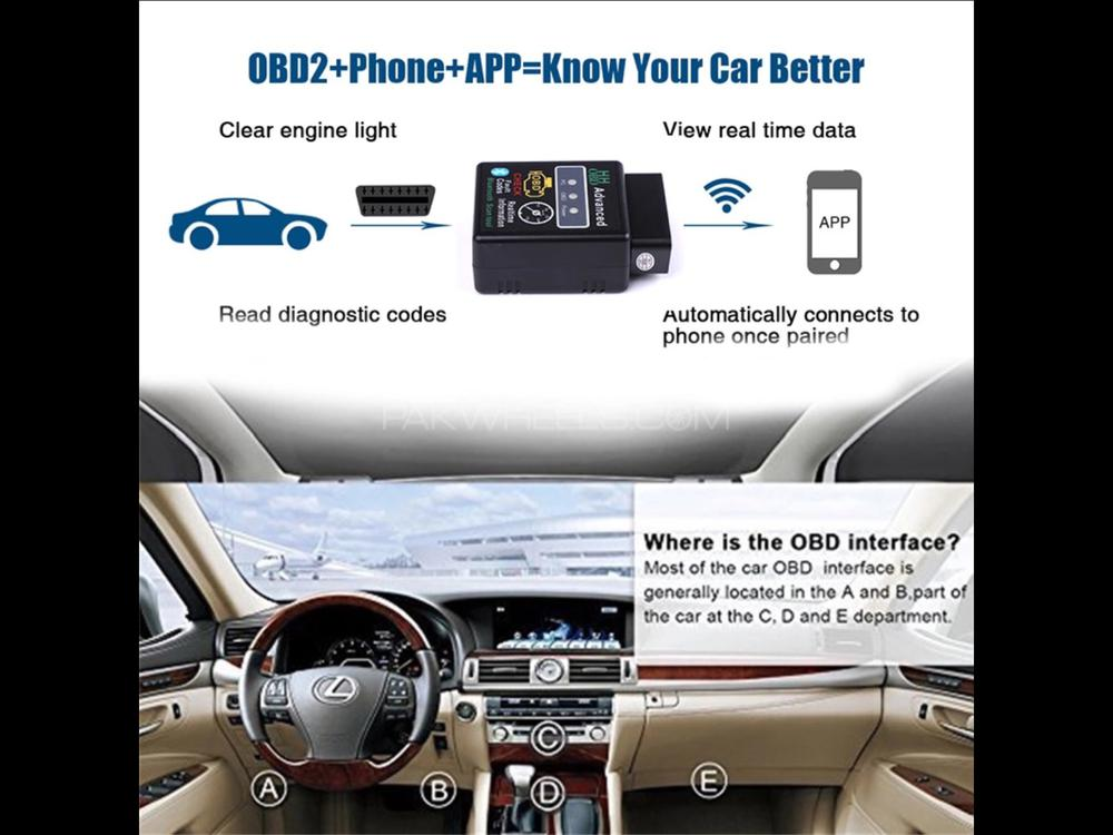 OBD advanced scanner latest version fault codes realtime inf