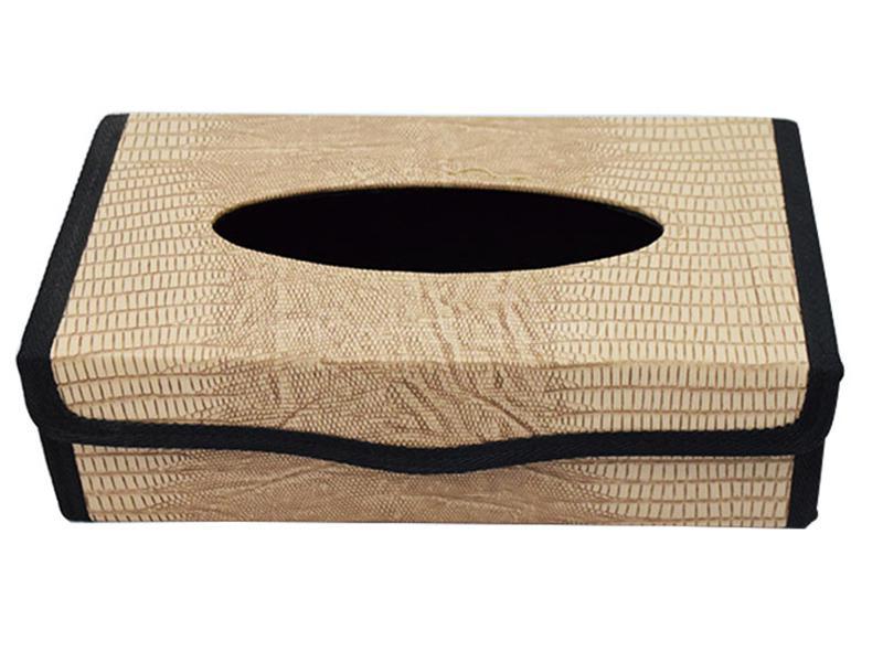Car Tissue Box - Beige Image-1
