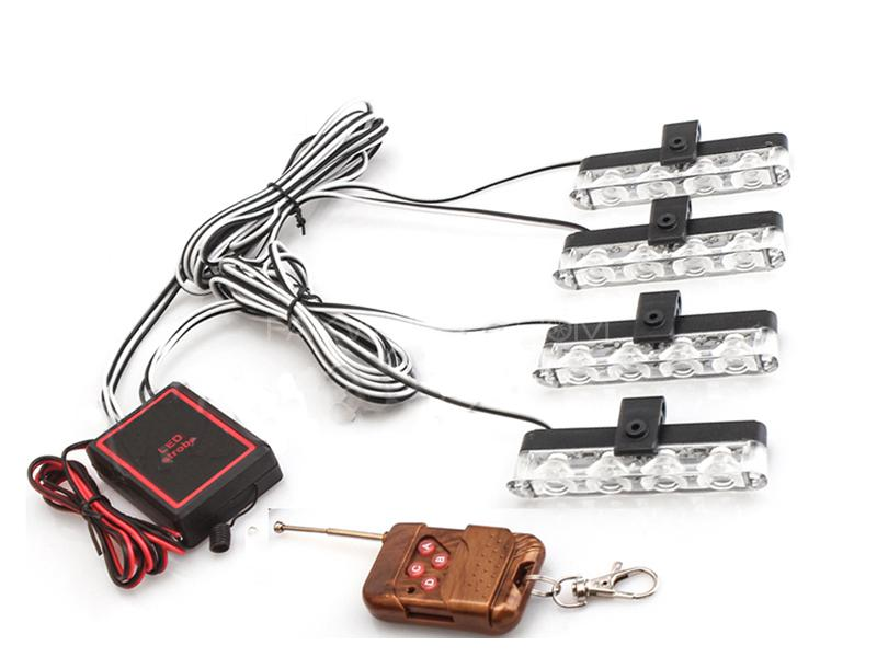 Wirless Remote Grill Police LED Lights - RH-9204 Image-1