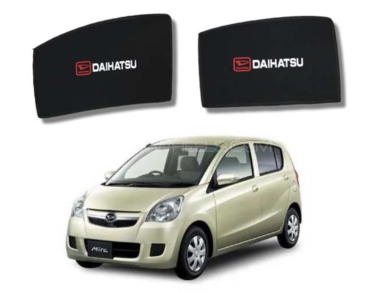 Foldable & Flexible Fix Shades With Logo For Daihatsu Mira 2012-2015 - 4 Pcs in Karachi